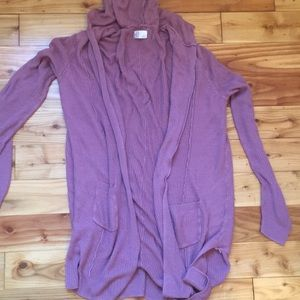 SO brand size Small Cardigan/ mauve color